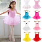 Toddler Kid Girl Tutu Ballet Leotard Dance Dress Ballerina Dancewear Costume US