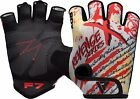 RDX Weight Lifting Gym Training Gloves Grips Pads Bodybuilding Workout Crossfit
