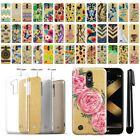 "For LG K20 Plus LV5 M250/ K10 2017 5.3"" Slim Sparkling Gold TPU Case Cover + Pen"