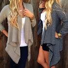 Us Stock Women's Loose Sweater Long Sleeve Knitted Outwear Cardigan Jacket Coat