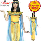 CA336 Golden Cleopatra Toga Egyptian Greek Goddess Roman Fancy Dress Up Costume