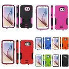 For Samsung Galaxy S6 Hybrid Hard Soft Dual Layer Heavy Duty Armor Case w/ stand