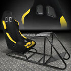 ADJUSTABLE VIDEO GAME RACING SEAT COCKPIT SIMULATOR CHAIR W/PEDAL+SHIFTER MOUNT