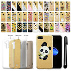 "For Apple iPhone 8 / iPhone 7 4.7"" Verizon Sparkling Gold TPU Case Cover + Pen"
