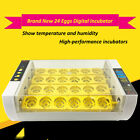 24 Digital Egg Incubator Hatcher Automatic Turning Temperature Control Poultry