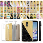 For LG Stylo 3 Stylus 3 L83BL Sparkling Gold TPU Case Cover Protective + Pen