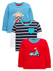 Ladybird Pack Of Three Monkey And Striped Tops