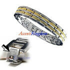 ACCENTS KINGDOM MENS SURGICAL STAINLESS STEEL MAGNETIC GOLF BRACELET A