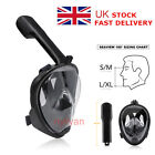 UK 180°View Full Face Snorkel Mask Swimming Scuba ANti-fog Mask&Mount for Gopro