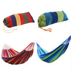 Portable Cotton Rope Outdoor Swing Fabric Camping Hanging Hammock Canvas Bed 75""