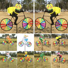 3D Creative Animals on Bike Windmill Wind Spinner Whirligig Garden Decor Toy