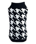 Pet Dog Clothes Houndstooth Sweater - XS,S,M,L,XL