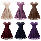 Women's Summer Lace Evening Cocktail Party Mini Dress Wedding Prom Gown Dress US