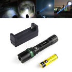 4000LM LED XM-L T6 Flashlight silver + double charge +2 Vander battery Tactical
