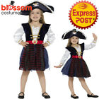 CK1031 Girls Deluxe Glitter Pirate Wench Caribbean Buccaneer Book Week KCostume