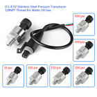 1pc Pressure Transducer Sender Sensor 0-4.5V Steel for Oil Fuel 100/200/300psi