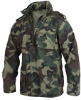 Mens Military Vintage Style Lightweight M65 Jacket Woodland Camo Rothco 2851
