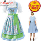 K400 Oktoberfest Wench Ladies Dirndl Dress Up German Bavarian Beer Maid Costume
