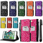 "For Apple iPhone 7 Plus 5.5"" Composition Book Design Wallet Case Kickstand + Pen"