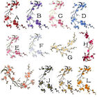 clothing patch - Blossom Flowers Applique Clothing Embroidery Patch Sticker Iron On Sew Cloth DIY