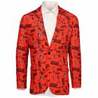 Forever Collectables NFL Men's Cleveland Browns Ugly Business Jacket, Orange