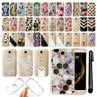 For LG K10 Premier LTE L62VL K430 Ultra Thin Clear TPU Case Phone Cover + Pen