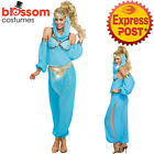K382 Genie Jasmine Arabian Belly Dancer Princess  Aladdin Fancy Dress Up Costume