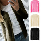 Fashion Womens Casual Sweater Long Sleeve Outwear Tops Cardigan Coat Jacket S-XL