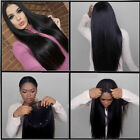 100% Brazilian Virgin Human Hair Silky Straight Lace Front Wig With Baby Hair