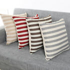 Stripe Cover Print Sofa Bed Home Decoration Festival Pillow Case Cushion Cover