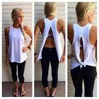 Women Summer Vest Top Sleeveless Blouse Casual Tank Tops T-Shirt Split Back Vest