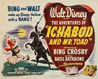 "ICHABOD AND MR. TOAD 1949 Headless Horseman DISNEY = POSTER = 7 SIZES 19"" - 36"""