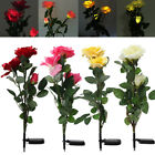 1/3/5 pack Solar Powered Rose 3 LED Rose Flower Garden Lamp Light Waterproof