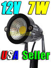 12V Low Voltage 7W Warm White COB LED Landscape Garden Stake Light Waterproof