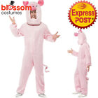 CA392 Pig Farm Animal Ladies Mens Fancy Dress Up Jumpsuit Book Week Funny Outfit