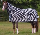 bucas Buzz-Off Full Neck Fliegendecke Zebra Ekzemerdecke TOP Fliegenschutz