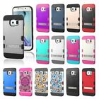 Protective Hybrid Impact Stand Case Cover Stand for Samsung Galaxy S6/S6 Edge