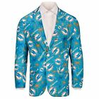 Forever Collectables NFL Men's Miami Dolphins Ugly Business Jacket, Teal