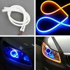 2x 45cm Flexible Car Soft Tube LED Strip Light DRL Daytime Running Lamp 3 color