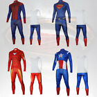 Men Batman Superheros Iron Man long Sleeve Cycling Jerseys+Bib Pants Sets Sports