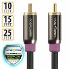 FosPower RCA Male Dual Layer Gold Plated Subwoofer Audio Cable Cord Adapter Plug