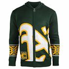 Forever Collectibles MLB Men's Oakland Athletics Mens Full Zip Hooded Sweater