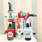 Christmas Wine Bottle Cover Bag Knitted Sweater Xmas Decoration N98B