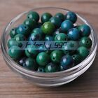 4~10mm Round Natural Chrysocolla Gemstone Stone Loose Beads Jewelry Findings
