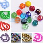 (137 Colors) 30pcs 10X7mm Rondelle Faceted Crystal Glass Loose Spacer Beads