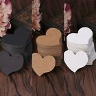 Внешний вид - 100Pcs Heart Shape Blank Kraft Paper Card Gift Tag Label DIY Party Wedding Craft