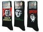 12 Mens Hammer Horror Dracula Frankenstein Halloween Character Socks UK 6-12