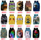 Boys Girls TMNT Pikachu Satchel Backpack Rucksack Shoulder Bookbag School Bag