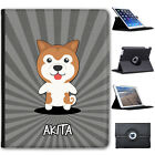 Asian Cartoon Dogs Folio Cover Leather Case For Apple iPad