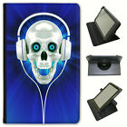 Best Amazon Headphones For Kindles - Skull With Headphones Universal Folio Leather Case For Review